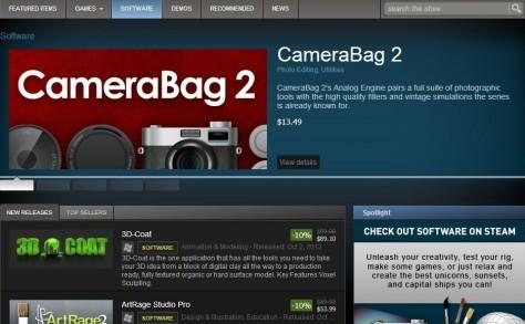 Steam Sells Software